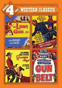 Movies 4 You: Western Classics (The Lone Gun, Ride Out For Revenge, Gunsight Ridge & Gun Belt)