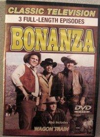 Bonanza/Wagon Train ~ Classic Television DVD ~ 3 Full-Length Episodes