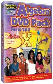 The Standard Deviants - Algebra Intro DVD 2-pack (Pre-Algebra 1, Algebra 1)
