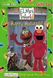 "Sesame Street Gift Set: Elmo's World ""Happy Holidays"" DVD and Plush Toy"