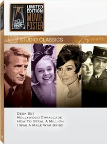 Classic Quad Set 14 (Desk Set / Hollywood Cavalcade / How to Steal a Million / I Was a Male War Bride)