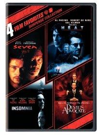 Suspense Collection: 4 Film Favorites: (Seven / Heat / Insomnia / The Devil's Advocate)