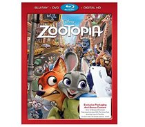 Zootopia Exclusive Packaging and Bonus Content (Blu Ray + DVD + Digital HD)
