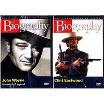Clint Eastwood Biography and John Wayne Biography : Western Cowboy Legends Biography 2 Pack Box Set Collection