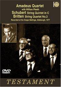Amadeus Quartet With William Pleeth Play Schubert String Quintet in C/Britten String Quartet No. 3