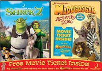 Shrek 2 / Madagascar Activity Disc & Movie Ticket 2-Pack
