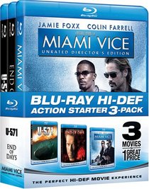 Action Starter Pack (Miami Vice / End of Days / U-571) [Blu-ray]