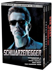 Schwarzenegger 4-Film Collection's Set (Terminator 2: Judgment Day / Total Recall / Red Heat / The Running Man)