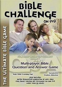 Bible Challenge on DVD: King James Version Old Testament, Vol. 1