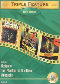 Horror Classics Triple Feature, Vol. 1 (Metropolis (1927) / Nosferatu (1922) / The Phantom of the Opera (1925)
