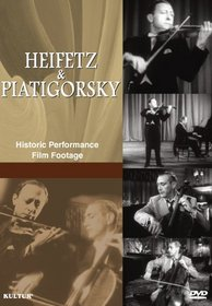 Heifetz & Piatigorsky - Historic Performance Film Footage