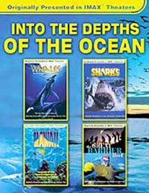 Into the Depths of the Ocean - Great Barrier, Sharks, Hawaii, Whales (Large Format 4-Pack)