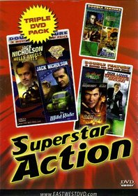 """""""Superstar Action""""Hells Angels on Wheels+The Wild Ride+On Dangerous Ground+Bail Out+The Sell-Out+The Great St. Louis Bank Robbery[Triple DVD Pack & Double Feature]"""