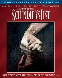 Schindler's List 20th Anniversary Limited Edition (Blu-ray + DVD + Digital Copy + UltraViolet)