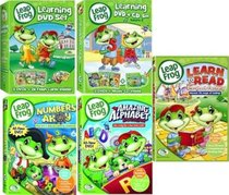 LeapFrog 9 DVDs plus CD and Flash Cards: Includes Learning Set #1: Letter Factory, Talking Words Factory, Let's Go to School with 26 Flash Cards. Plus Learning Set #2: Talking Words 2 (Code Word Caper), Math Circus & Math Adventure to the Moon with Music
