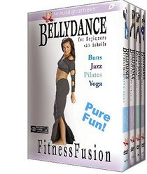 Bellydance for Beginners with Suhaila: Fitness Fusion - 4 Volume Gift Set (Buns, Jazz, Pilates, Yoga)