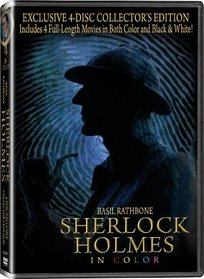 Sherlock Holmes 4 pack: Prelude to Murder, Secret Weapon, Terror by Night, & Woman in Green - In COLOR! Also Includes the Original Black-and-White Version which has been Beautifully Restored and Enhanced!