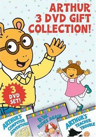Arthur 3 DVD Gift Collection (Arthur's Teacher Trouble/Arthur's Computer Adventure/D.W. Rides Again)
