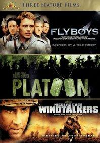 Flyboys (Widescreen), Platoon (Widescreen), & Windtalkers (Full Screen)