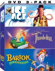 Animated 3 Pack (Thumbelina / Ice Age / Bartok the Magnificent)