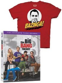 """The Big Bang Theory: The Complete Third Season (DVD Fan Pack with """"Bazinga"""" T-Shirt On-Pack)"""