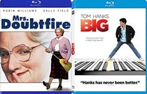 Big: Director's Cut + Mrs. Doubtfire [Blu-ray] Fun Tom Hanks / Robin Williams Double Feature Bundle movie Set