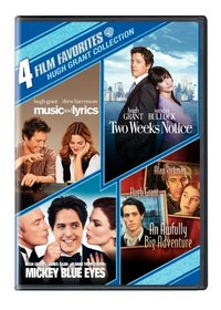 Hugh Grant Collection 4 Film Favorites (Music and Lyrics / Two Weeks Notice / Mickey Blue Eyes / An Awfully Big Adventure)