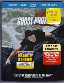 Mission: Impossible - Ghost Protocol Exclusive (Three-disc Blu-ray/dvd Combo +Digital Copy)