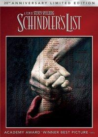 Schindler's List 20th Anniversary Limited Edition (DVD + Digital Copy + UltraViolet)