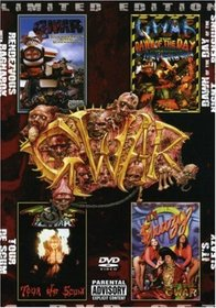 GWAR Limited Edition 4-DVD Box Set (Rendezvous With Ragnarok / Tour De Scum / Dawn of the Day of the Night of the Penguins / It's Sleazy)
