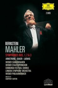 Mahler - Symphonies 1, 2, 3 / Leonard Bernstein, Sheila Armstrong, Janet Baker, Christa Ludwig, Wiener Philharmoniker, London Symphony Orchestra