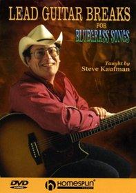 DVD-Lead Guitar Breaks For Bluegrass Songs