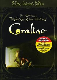 Coraline (Deluxe Two-Disc Collector's Edition with Exclusive Bonus Content + Digital Copy & 3D)