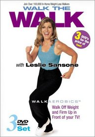 Leslie Sansone - Walk the Walk 3-DVD Set (Miracle Mile / Two Mile Walk / Weight Loss Walk 4 Miles)
