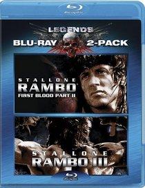 Rambo: First Blood II / Rambo III (Two-Pack) [Blu-ray]