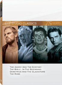 Classic Quad Set 4 (The Agony and the Ecstasy / The Bible / Demetrius and the Gladiators / The Robe)