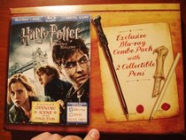 Harry Potter and the Deathly Hallows Part1 Blu-Ray+DVD+Digital Copy 2 Wand Collectible Pens