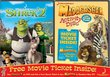 Shrek 2 / Madagascar Activity Disc & Movie Ticket 2-Pack
