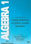 Using Matrices to Solve Linear