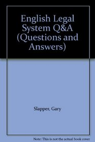 English Legal System Q&A (Questions and Answers)