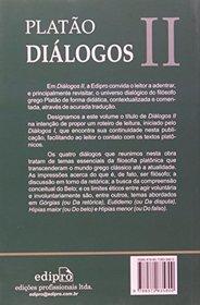 Dialogos: Gorgias, Eutidemo, Hipias Maior, Hipias Menor - Vol.2