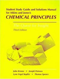 Student Study Guide/Student's Solutions Manual: for Chemical Principles 3e