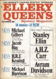 Ellery Queen's Mystery Magazine, October 1969 (Vol. 54, No. 4)