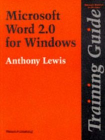 Training Guide: Word for Windows: Version 2
