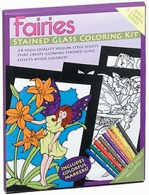 Fairies Stained Glass Coloring Kit (Boxed Sets/Bindups)