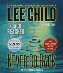 Never Go Back  (Jack Reacher, Bk 18)  (Audio CD) (Unabridged)