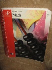 Lifepac Math Grade 7 : Teacher's Guide