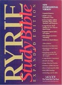 Niv Ryrie Study Bible: Burgundy Indexed