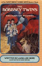Camp Fire Mystery (Bobbsey Twins Series #6) (Large Print)