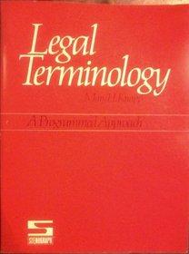Legal Terminology: A Programmed Approach